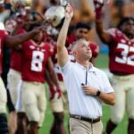 Florida State offensive lineman Brady Scott responds to criticism over marriage proposal after Seminoles' upset loss